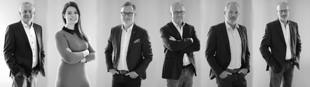v.l.n.r.: Ewald Schäfer, Sarah Lehmann, Thomas Mertes, Egbert Symens, Volker Braas, Achim Derdak